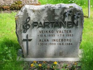 Veikko Partasen hauta Mustankallion hautausmaalla