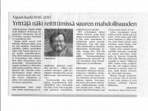 Tapani Kurki 1946-2015