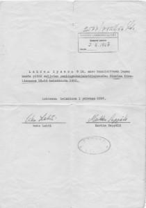 Maaherralle - anomus 1956